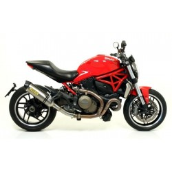 EXHAUST SILENCER ARROW RACE-TECH IN TITANIUM CARBON CUP WITH CATALYTIC FITTING FOR DUCATI MONSTER 821 2018/2020, APPROVED