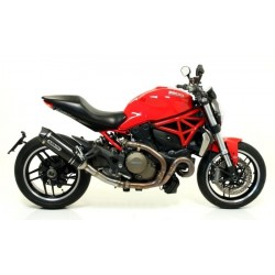 ARROW RACE-TECH EXHAUST PIPE IN CARBON CARBON BASE FOR DUCATI MONSTER 821 2018/2020, APPROVED