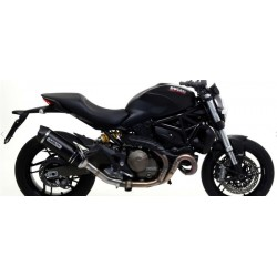 EXHAUST SILENCER ARROW RACE-TECH ALUMINUM DARK CARBON BASE FOR DUCATI MONSTER 821 2018/2020, APPROVED