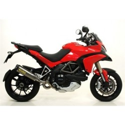 ARROW COMPLETE EXHAUST SYSTEM WORKS TITANIUM TERMINAL WITH CARBON BASE FOR DUCATI MULTISTRADA 1200/S 2010/2014, OMOL