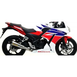 ARROW COMPLETE EXHAUST SYSTEM X-KONE STEEL TERMINAL WITH CATALYTIC MANIFOLD FOR HONDA CBR 300 R 2014/2019, OMOL