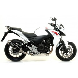 ARROW RACE-TECH EXHAUST TERMINAL IN CARBON STEEL BASE FOR HONDA CB 500 F 2013/2015, APPROVED