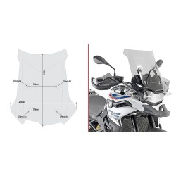 WINDSHIELD GIVI FOR BMW F 750 GS 2018/2020, SMOKED