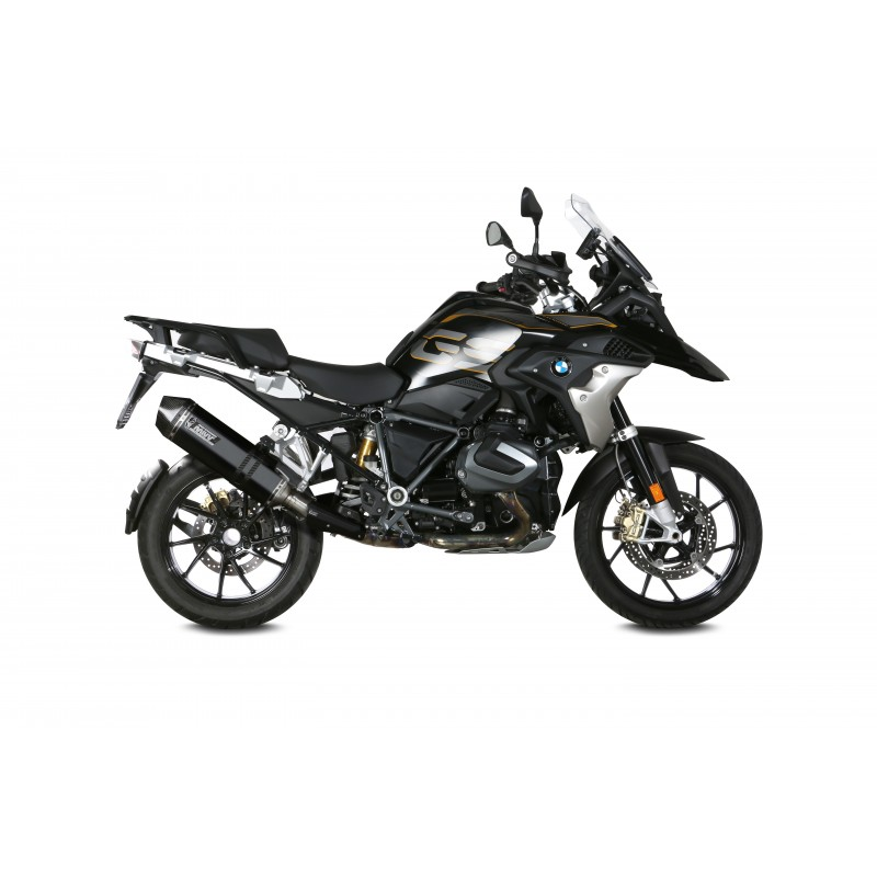 MIVV BLACK SPEED EDGE EXHAUST TERMINAL WITH CARBON BACK FOR BMW R 1250 GS 2018/2020, APPROVED