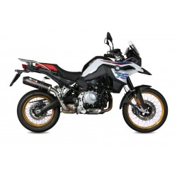 MIVV OVAL EXHAUST TERMINAL IN CARBON FOR BMW F 850 GS 2018/2020, APPROVED