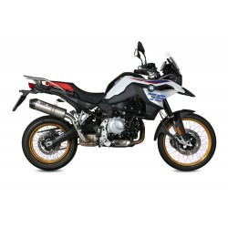 MIVV OVAL EXHAUST SILENCER IN TITANIUM CARBON BASE FOR BMW F 850 GS 2018/2020, APPROVED