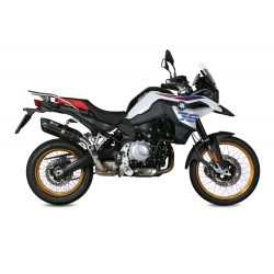EXHAUST TERMINAL MIVV SUONO BLACK FOR BMW F 850 GS 2018/2020, APPROVED