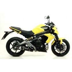 ARROW RACE-TECH ALUMINUM DARK COMPLETE EXHAUST SYSTEM WITH STEEL BASE FOR KAWASAKI ER-6F 2012/2016