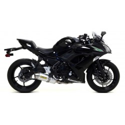 ARROW RACE-TECH CATALYTIC COMPLETE EXHAUST SYSTEM ALUMINUM STEEL CUP FOR KAWASAKI NINJA 650 2017/2019, APPROVED