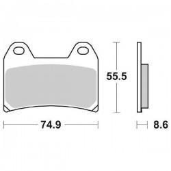 FRONT CERAMIC PADS SET SBS 706 HF FOR APRILIA RS 250 1998/2002
