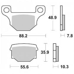 CERAMIC BACK PADS SET SBS 585 HF FOR APRILIA RS4 125 2011/2016