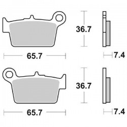 CERAMIC REAR BRAKE PADS SET SBS 861 HF FOR BETA RR 125 2007/2009