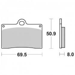 FRONT CERAMIC PADS SET SBS 566 HF FOR DUCATI MONSTER 600 1995/1997
