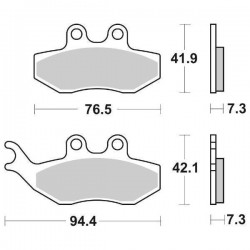 FRONT CERAMIC PADS SET SBS 774 HF FOR BETA RR 125 2007/2009