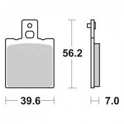 CERAMIC REAR BRAKE PADS SET SBS 519 HF FOR APRILIA RS 250 1998/2002