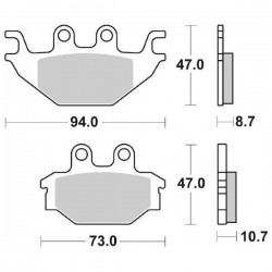 CERAMIC BACK PADS SET SBS 810 HF FOR YAMAHA YZF-R 125 2008/2013