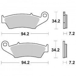 SET OF UNINTERDED FRONT PADS SBS 694 RSI FOR HONDA CRE 450 F 2009/2012