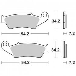 SINTERED FRONT PADS SET SBS 694 RSI FOR KAWASAKI KX 125 1999/2002