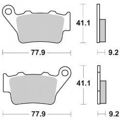 SINTERED REAR BRAKE PADS SET SBS 675 RSI FOR HUSQVARNA TC 250 (4T) 2002/2005