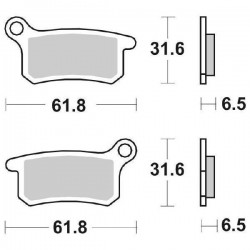 SINTERED REAR BRAKE PADS SET SBS 783 RSI FOR KTM SX 65 (2T) 2016/2018