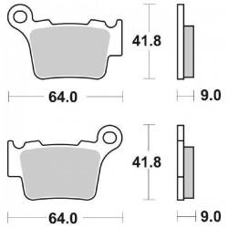 SINTERED REAR BRAKE PADS SET SBS 791 RSI FOR HUSQVARNA TC 250 (4T) 2002/2005