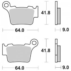 SINTERED REAR BRAKE PADS SET SBS 791 RSI FOR HUSQVARNA TC 250 (4T) 2011/2013
