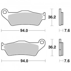 SINTERED FRONT BRAKE PADS SET SBS 671 SI FOR KTM EXC 250 (2T) 2005/2007