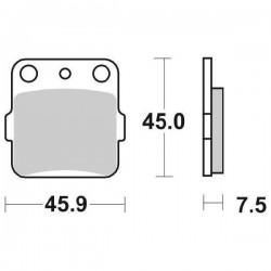 SINTERED REAR BRAKE PADS SET SBS 592 SI FOR SUZUKI RM 65 2003/2007