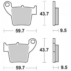 SET OF UNINTERDED REAR PADS SBS 777 SI FOR HONDA CRE 250 2010/2012