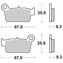SINTERED REAR BRAKE PADS SET SBS 790 SI FOR KAWASAKI KLX 450 R 2007/2010