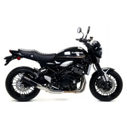 ARROW REBEL DARK EXHAUST TERMINAL WITH ALUMINUM BACK FOR KAWASAKI Z 900 RS 2018/2020, APPROVED