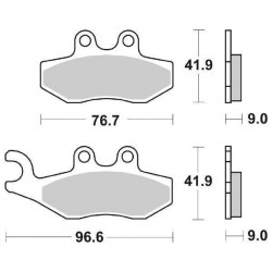 SBS 177 MS SINTERED REAR PADS SET FOR GILERA GP 800 2007/2013