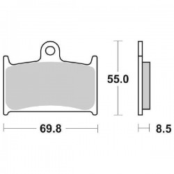 SINTERED FRONT BRAKE PADS SET SBS 624 HS FOR TRIUMPH SPEED TRIPLE T509 1997/1998