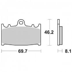 SET PASTIGLIE ANTERIORI SINTERIZZATE SBS 631 HS PER SUZUKI GSX 650 F 2010/2013
