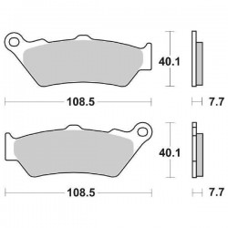 SET SINTERED FRONT PADS SBS 674 HS FOR BMW G 650 XCOUNTRY 2009/2010