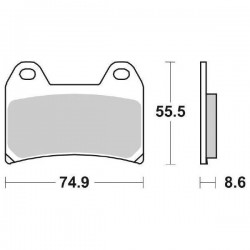 SET SINTERED FRONT PADS SBS 706 HS FOR BENELLI TNT 1130 2005/2008