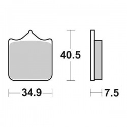 SET SINTERED FRONT PADS SBS 762 HS FOR BUCKETS CAFE RACER 1130 2007/2008