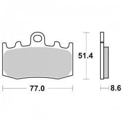 SINTERED FRONT PADS SET SBS 796 HS FOR BMW K 1300 GT 2009/2013