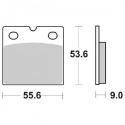 SINTERED REAR BRAKE PADS SET SBS 506 LS FOR BMW R 1100 RS