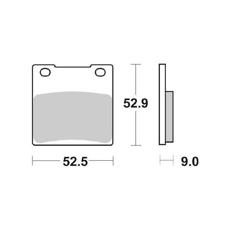 SET PASTIGLIE POSTERIORI SINTERIZZATE SBS 556 LS PER SUZUKI GSX-R 750 2000/2001