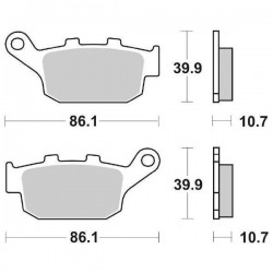 SBS 614 LS SINTERED REAR BRAKE PADS SET FOR BUELL XB12S LIGHTNING