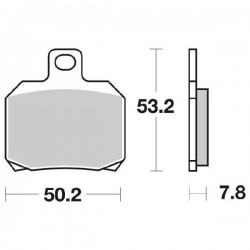 SINTERED REAR BRAKE PADS SET SBS 730 LS FOR CAGIVA RAPTOR 650 2005/2007