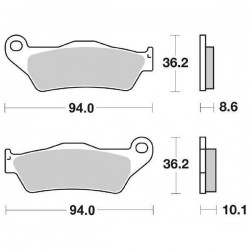 SET PASTIGLIE POSTERIORI SINTERIZZATE SBS 742 LS PER BMW K 1200 R SPORT 2007/2008