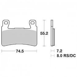 DUAL CARBON SBS 734 DC FRONT PADS SET FOR HONDA CBR 929 RR 2000/2001
