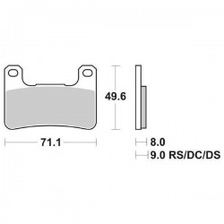 DUAL CARBON SBS 806 DC FRONT PADS SET FOR KAWASAKI ZX-10R 2008/2009