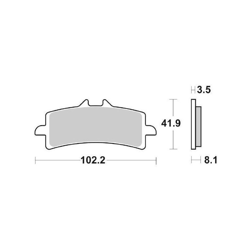 SET PASTIGLIE ANTERIORI DUAL CARBON SBS 841 DC PER KTM 1290 SUPER DUKE R 2017/2019