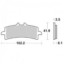 SET PASTIGLIE ANTERIORI DUAL CARBON SBS 841 DC PER DUCATI 1098 R 2008/2010