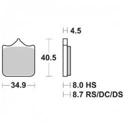 DUAL CARBON SBS 870 DC FRONT PADS SET FOR BMW S 1000 RR 2012/2014