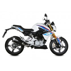 EXHAUST MIVV DELTA RACE BLACK WITH CARBON BASE FOR BMW G 310 R 2016/2020, APPROVED
