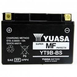 BATTERIA YUASA YT9B-BS SENZA MANUTENZIONE CON ACIDO A CORREDO PER YAMAHA MT-03 2006/2013